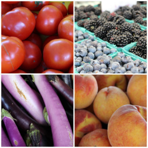 Produce collage